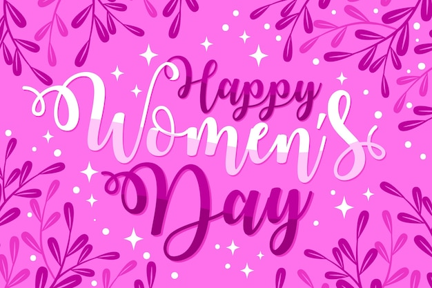 Hand drawn international women's day lettering