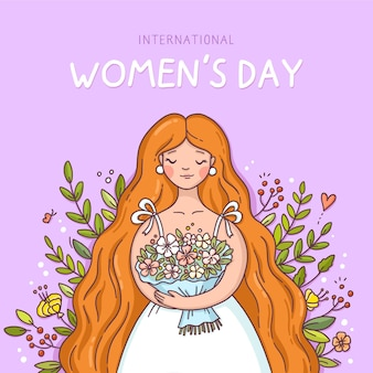 Hand drawn international women's day