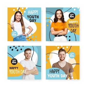 Коллекция сообщений к международному дню молодежи с фото