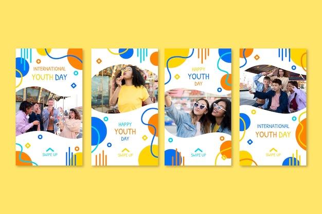 Коллекция историй международного дня молодежи с фото