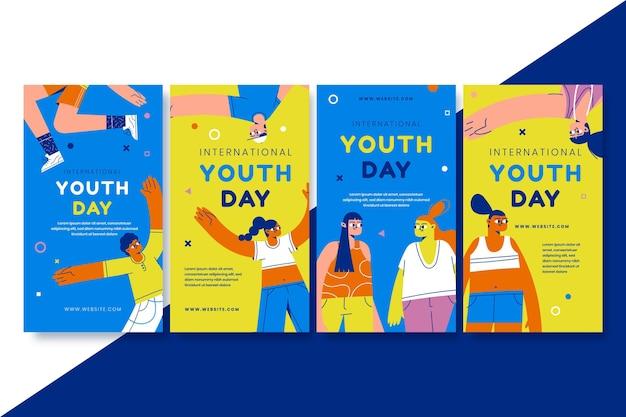 手描きの国際青少年デーストーリーコレクション