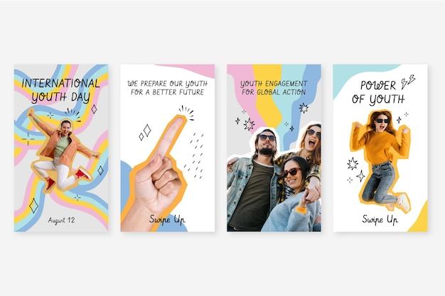 Коллекция историй о международном дне молодежи