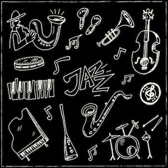 Hand drawn jazz collection