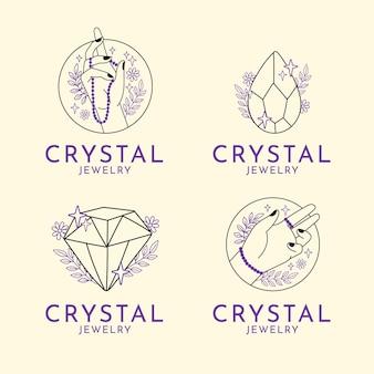 Коллекция рисованной ювелирных логотипов
