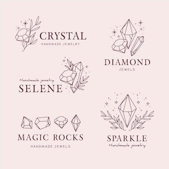 Hand drawn jewelry logo collection