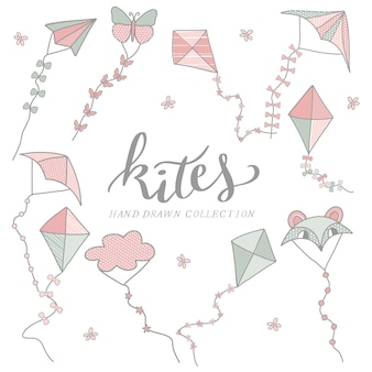 Hand drawn kites collection