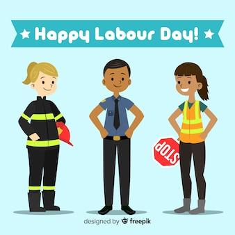 Hand drawn labor day background
