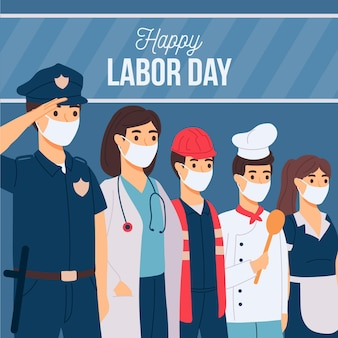 Hand drawn labor day background