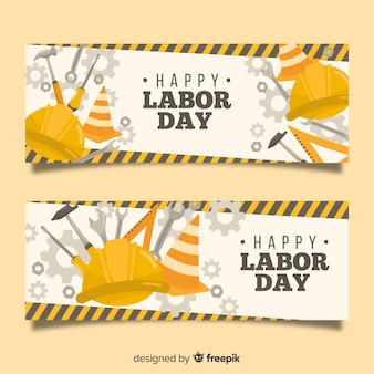Hand drawn labor day banner
