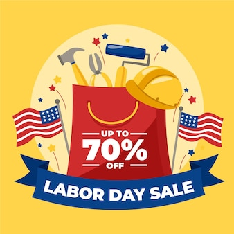Hand drawn labor day concept