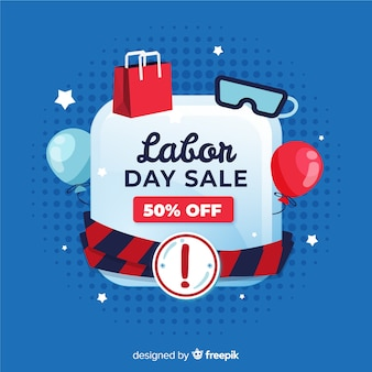 Hand drawn labor day sale background