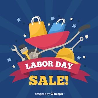Hand drawn labor day sale background