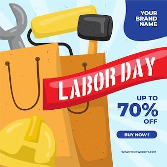 Hand drawn labor day sale usa