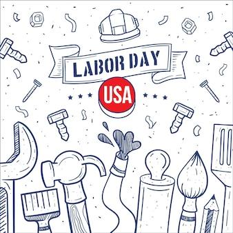 手描き労働日アメリカ