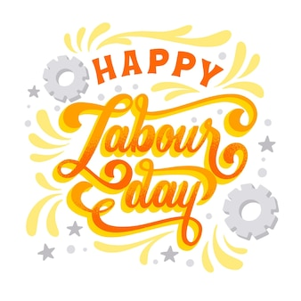 Hand drawn labour day lettering