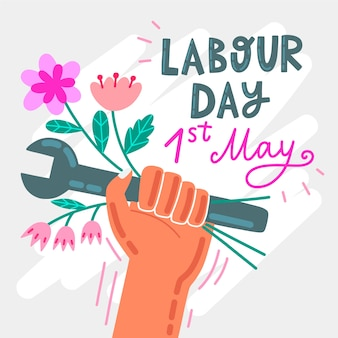 手描きの労働者の日