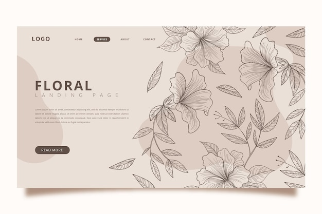 Hand drawn landing page template