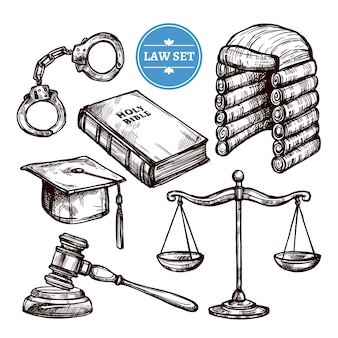 Hand drawn law set