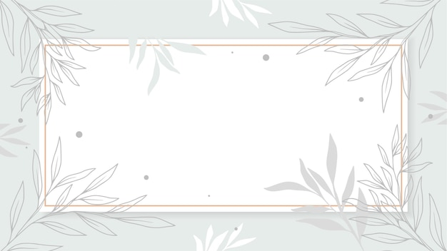 Рамка из листьев