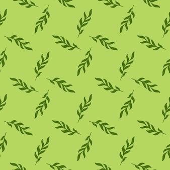 Ручной обращается листья ветка силуэты бесшовные модели в стиле каракули
