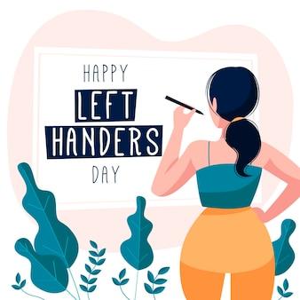 Giorno di mancini disegnati a mano