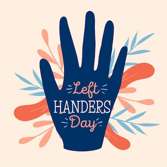 Hand drawn left handers day