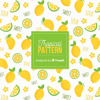 Hand drawn lemons pattern
