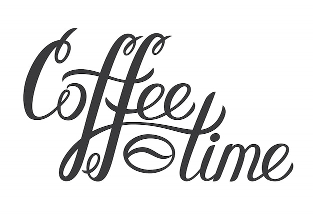 Рисованной надписи coffee time