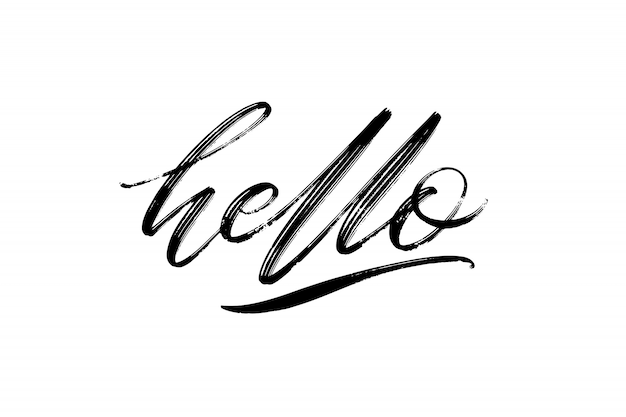 Hand drawn   lettering. hello