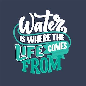 Рисованной надписи лозунг об изменении климата и водного кризиса