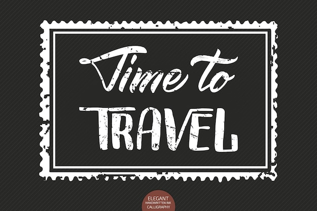 Lettere disegnate a mano time to travel