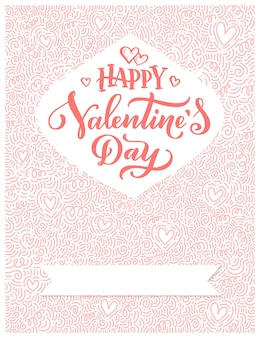 Hand drawn lettering, typography poster for valentines day, cards, prints.