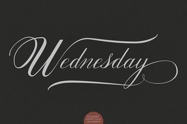Hand drawn lettering wednesday.