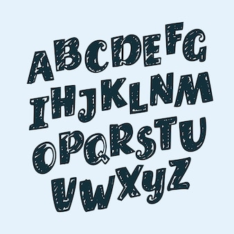 Рисованной буквы, знаки препинания, цифры и математические знаки, алфавит, шрифт