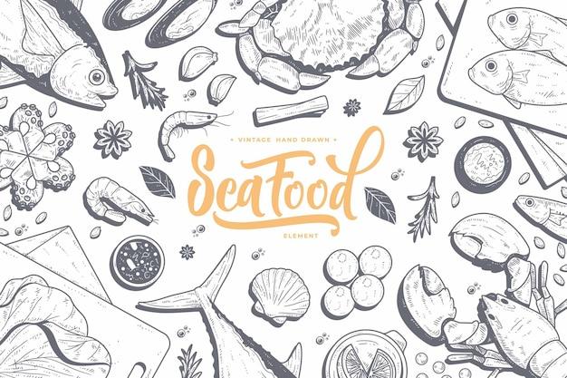 Рисованной линии искусства еды