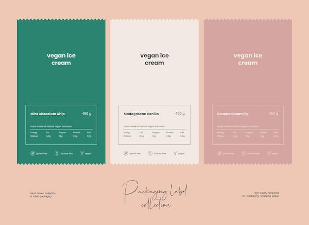 Hand drawn line art vector cosmetics label design template Premium Vector