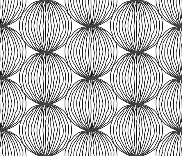 手描きのラインパターン