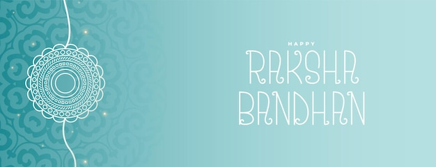 Hand drawn line style raksha bandhan wide banner design