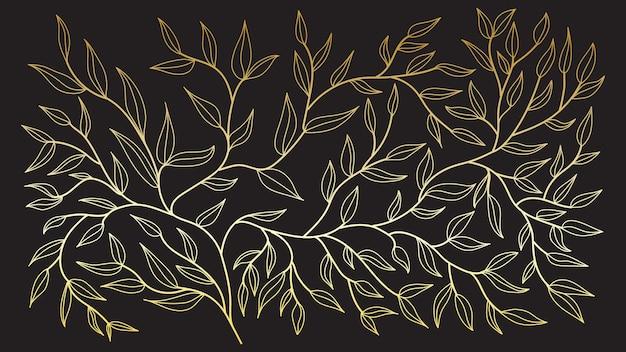 手描きの線。髪の質感のパターン。デザインのための落書き。線画、花柄、葉、線画インク描画