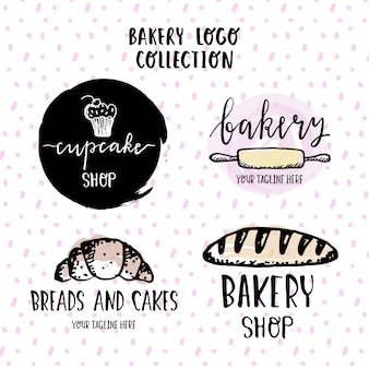 Hand drawn logos for a bakery