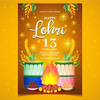 Hand drawn lohri poster