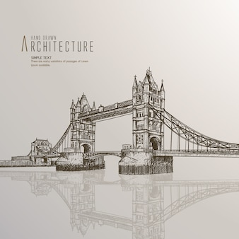 Hand drawn london bridge