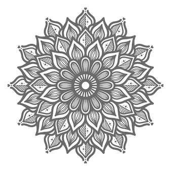 Hand drawn lovely mandala illustration for abstract and decorative concept