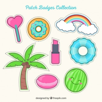 Hand drawn lovely patches