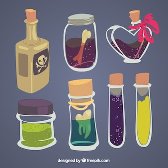 Hand drawn magic potions