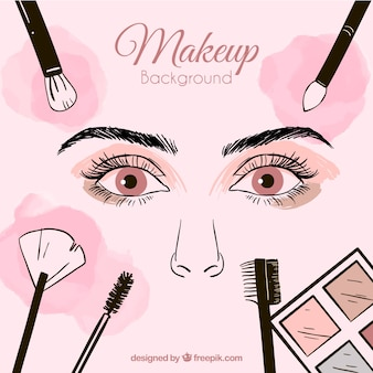 Hand drawn make up background