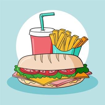 Рисованной малага типичная еда