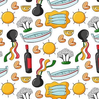 Cibo tipico malaga disegnato a mano