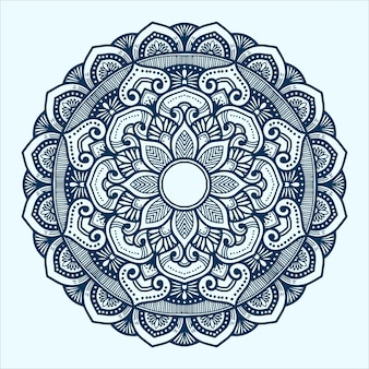 Hand drawn mandala art with indian style