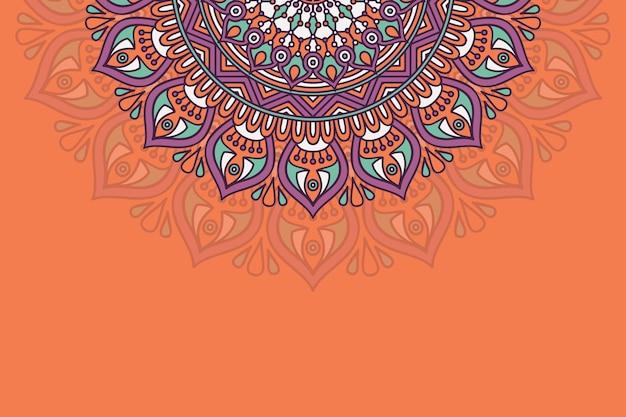 手描きの曼荼羅の背景